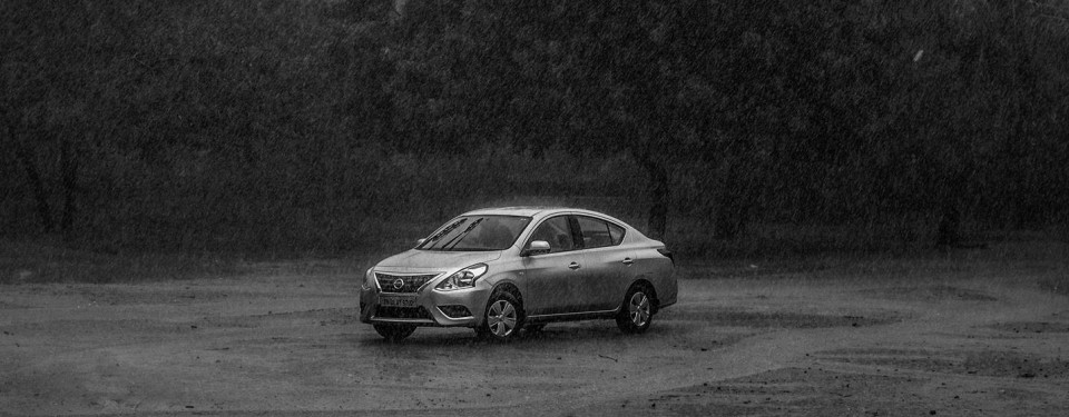 Car , Rain , Nissan , Yash Jain , Photography, OutDoor , AutoMobile , Mono Chrome, Trees , Wild
